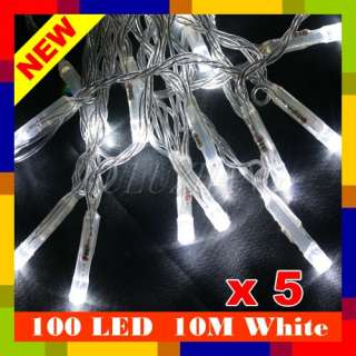 LED 10M White String Fairy Lights Xmas Christmas Party Wedding For US