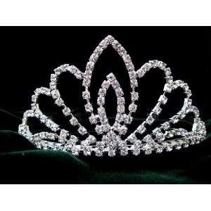 Wedding Bridal Prom Crystal Rhinestone Tiara 06