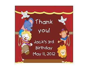 Circus Clown Personalized Birthday Party Thank You Magnet Favor