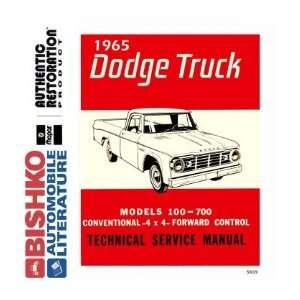1965 DODGE PICKUP TRUCK Shop Service Repair Manual CD