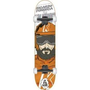Super Heros Complete Skateboard   7.6 w/Mini Logos: Sports & Outdoors