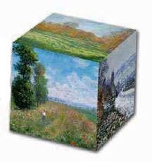 Claude Monet Impressionist Landscapes Art Museum Cube