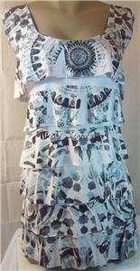 Fashion Bug Womens Plus Size Clothing White Paisley Tank Top Shirt