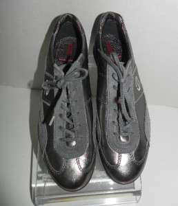 NEW Ecco Gray Leather/Suede Sneakers Shoes size 41 10