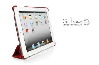iPad 2 Genuine Leather Grip Case Griff Red SGP #7700