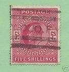 Great Britain Scott 140b Edward VII Five Shilling 1902
