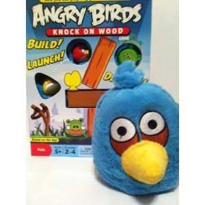 ANGRY BIRDS KNOCK ON WOOD GAME AND BLUE ANGRY BIRD PLUSH