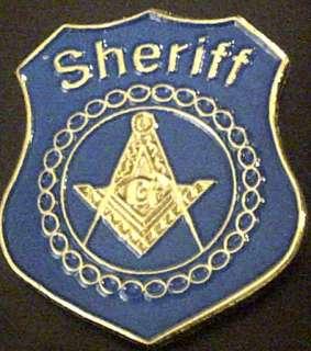 Masonic Sheriff Badge Lapel Pin