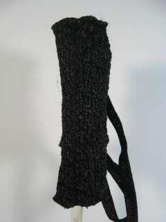 COLLEZIONE Black Woven Straw Handbag Tote Bag