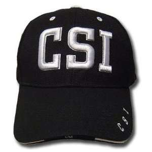 BLACK CSI LAW ENFORCEMENT BASEBALL CAP CRIME SCENE ADJ
