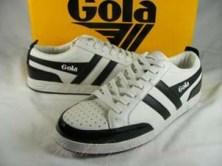 Gola Classic Mens Fear Leather Sneaker Shoes White Black 8