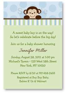 Lil Monkey Mod Monkey Baby Shower Invitation Printable