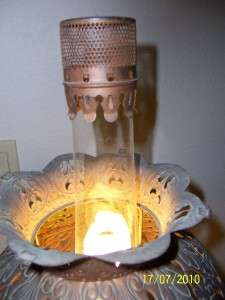 Antique Copper Gas Converted to Electric Lamp