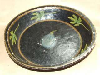 Toleware Paper Mache Fruit Bowl Hand Painted India OLD! *