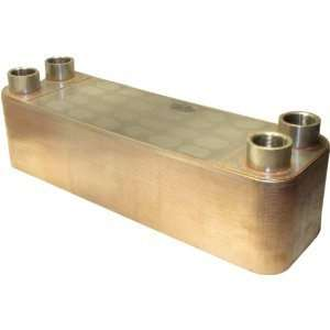 Plate 1.5 Male NPT Stainless Steel Copper Brazed Plate Heat Exchanger