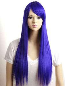 DARK PURPLE long straight Sexy cosplay wig B208L F18