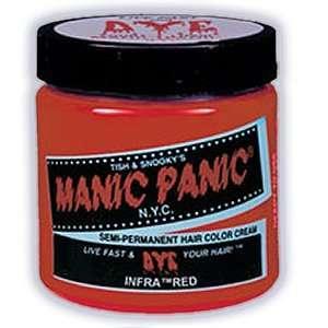 Manic Panic Semi Permanent Hair Color Cream Infra Red 4 Oz