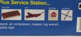GAS SERVICE STATION MRC JOES POWER PLUS Garage Tools 124 Model Kit
