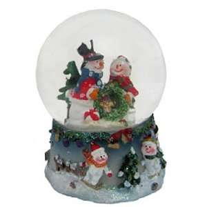 Small Snowman Snow Globe   Couple Christmas Ornament