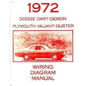 1972 DODGE DART DUSTER VALIANT Wiring Diagram Schematic Automotive