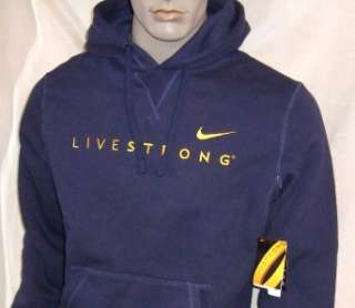 451) 2XL Nike LiveStrong Performance Cotton Poly Hoodie