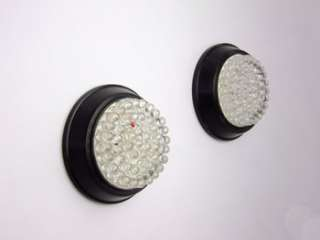Custom Black Saddlebag LED Signal Lights Harley Touring