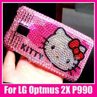 Hello Kitty Bling Back Case Cover LG Optimus 2X P990 DC