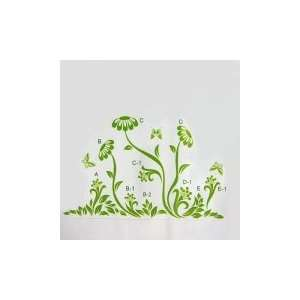 Green Dandelion  Loft 520 Kids Nursery Home Decor Vinyl Mural Art Wall