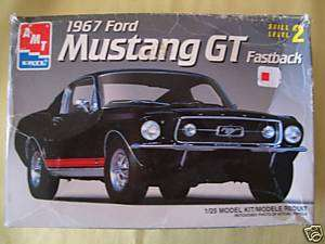 ERTL AMT 1967 FORD MUSTANG GT FASTBACK MODEL w/PAINT