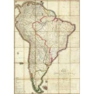 Mapa Geografico de America Meridional, 1799 Arts, Crafts