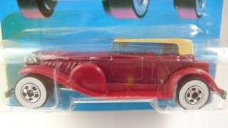 1988 Hot Wheels CLASSICS 31 DOOZIE BURGUNDY BEIGE TOP  