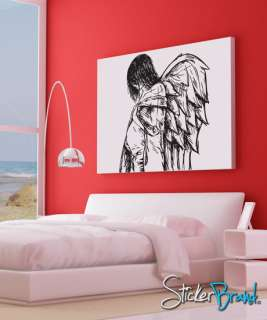 Vinyl Wall Decal Sticker Angels and Demons Wings #773B