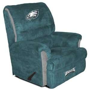 Philadelphia Eagles Big Daddy Recliner Green Everything