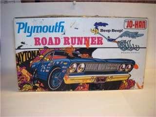 VTG ORIG 1/25 JO HAN 1968 PLYMOUTH ROAD RUNNER MOPAR CUSTOM KIT WB ART