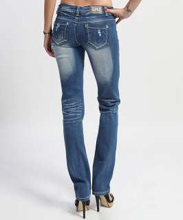 MOGAN 25~32 Ladies Heavy DESTROYED BOOTCUT JEANS Low rise Ripped