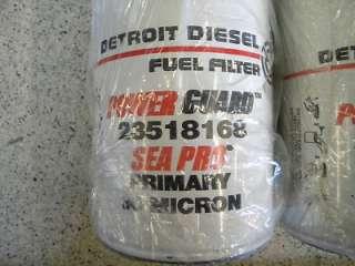 DETROIT DIESEL FUEL FILTER POWER GAURD 23518168 PAIR MARINE BOAT