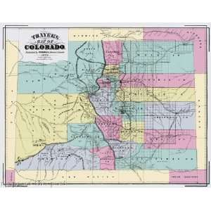 COLORADO (CO) TERRITORY BY RICHARDS & CO. 1873 MAP