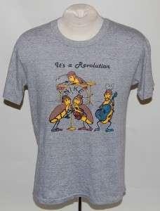 VINTAGE 80S NIKE BEATLES ITS A REVOLUTION T SHIRT pinwheel rayon RARE