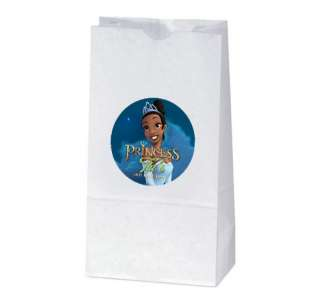 PRINCESS AND THE FROG Birthday TREAT BAG STICKERS