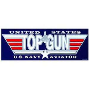 U.S. Navy Top Gun Bumper Sticker Automotive