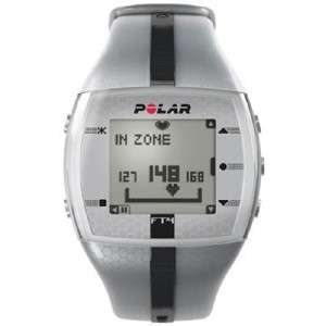 Polar FT4 Heart Rate Monitor Watch (Silver/Black   Mens)