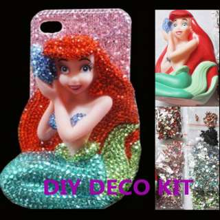 3D Bling Crystal Disney Little Mermaid DIY Cell Phone iPhone Case