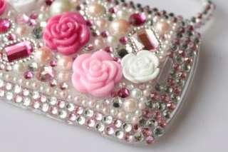 Diamond Pink Rose Hard Case Cover For Blackberry Bold 9900 9930