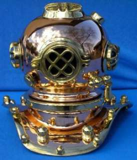 reproduction of an Antique MARK V Divers helmet ~ Truly beautiful
