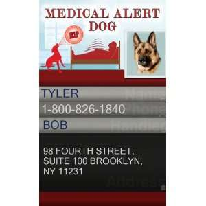 ID Badge   1 Dogs Custom ID Badge   Design#1   VERTICAL