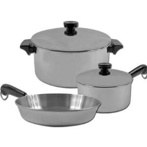 Revere Cookware 80 32294 5 Piece Stainless Steel Aluminum