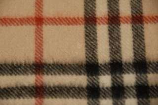 Burberry Tan Brown Black Red Nova Check Plaid Cashmere Scarf