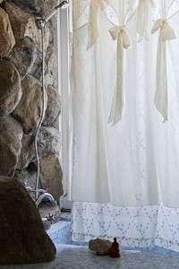Anthropologie Diamond Falls Shower Curtain NWT