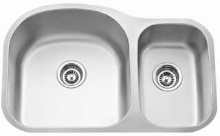 Stainless Steel Sink Kitchen Undermount Double 16G offsett
