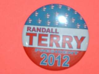button magnet mirror keychain RANDALL TERRY 2012